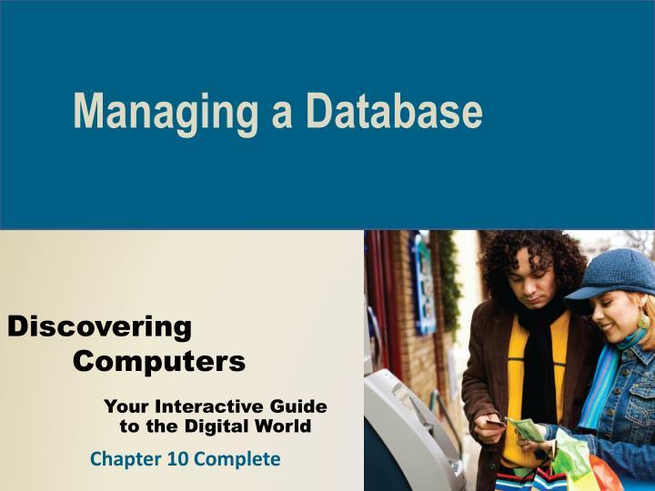 Managing a Database
