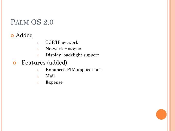 Palm OS 2.0