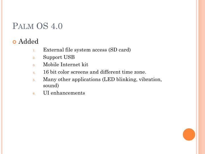 Palm OS 4.0