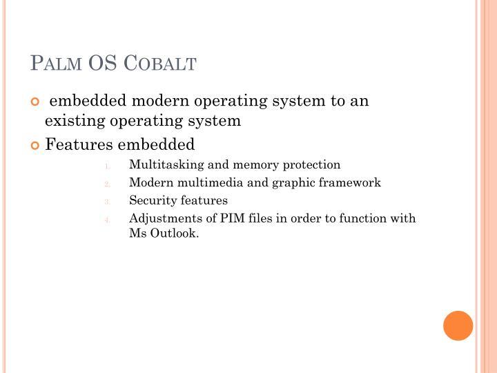 Palm OS Cobalt