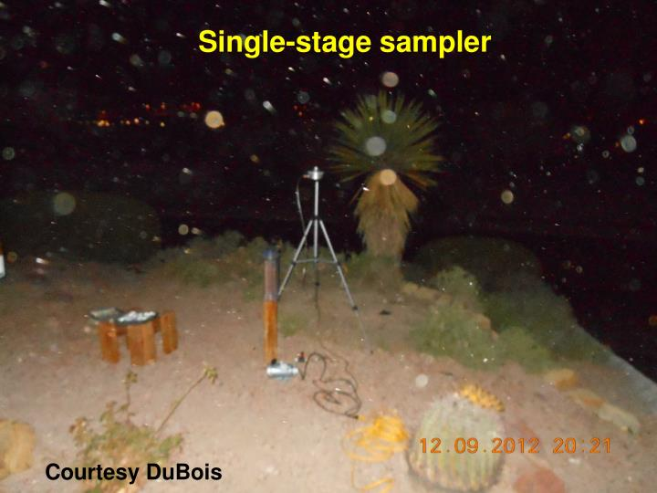 Single-stage sampler