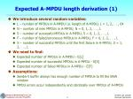 expected a mpdu length derivation 1