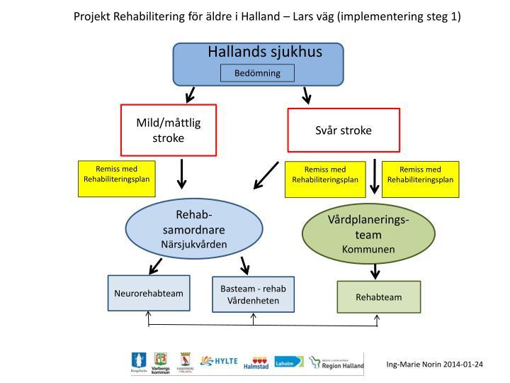 Projekt Rehabilitering för äldre i Halland – Lars väg (implementering steg 1)