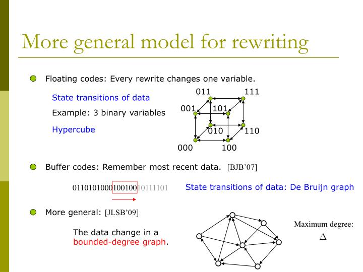 More general model for rewriting