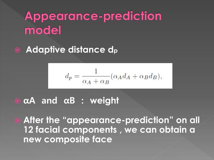 Appearance-prediction