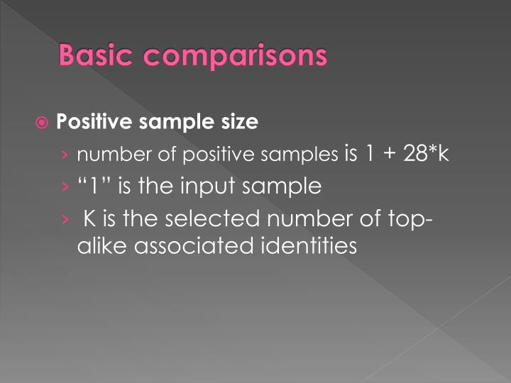 Basic comparisons