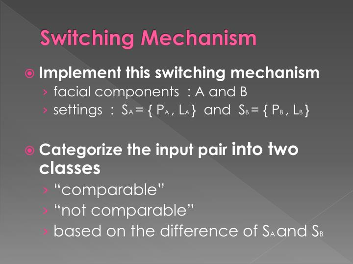 Switching Mechanism