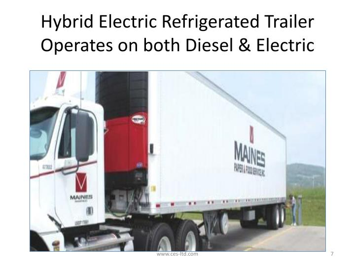 Hybrid Electric Refrigerated Trailer