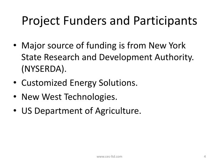 Project Funders and Participants