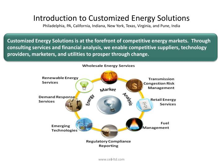 Introduction to Customized Energy Solutions