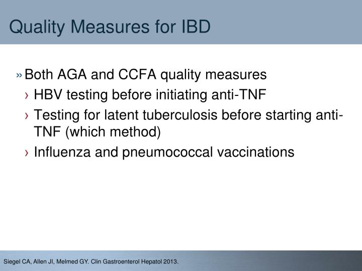 Quality Measures for IBD
