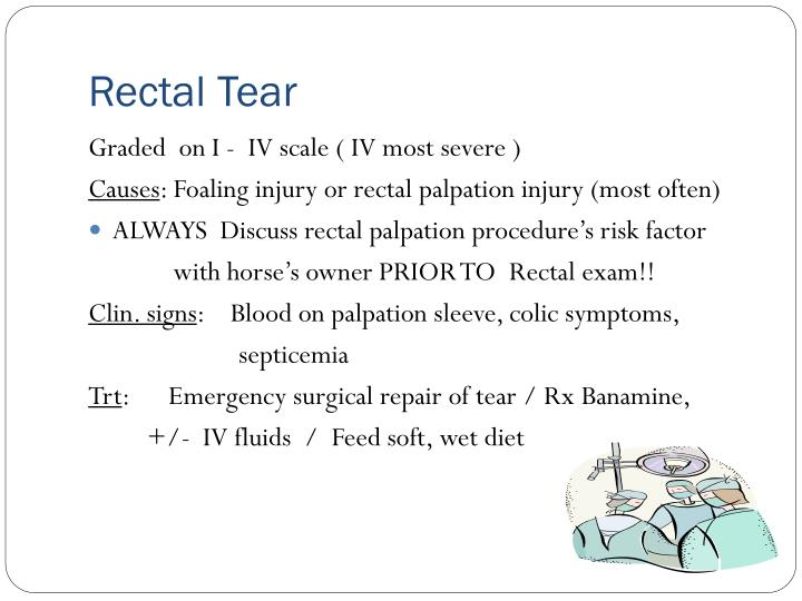 Rectal Tear