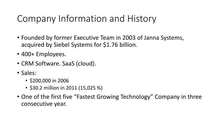 Company Information and History