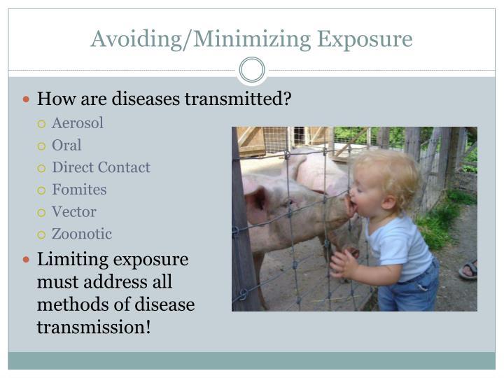 Avoiding/Minimizing Exposure