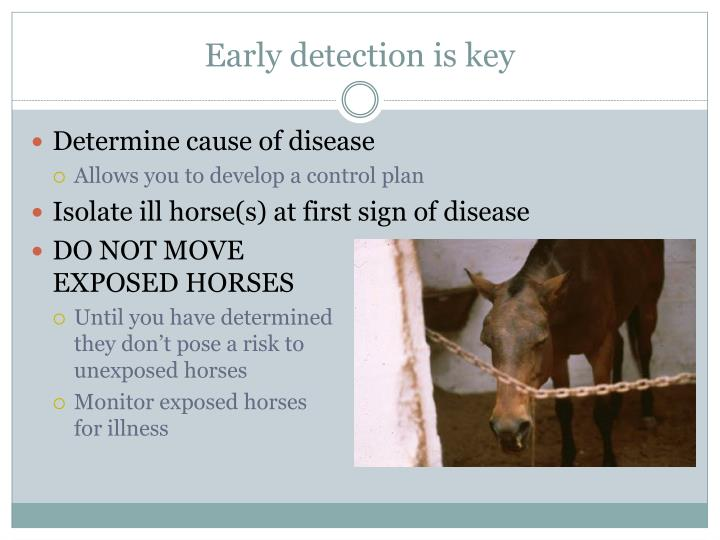 Early detection is key