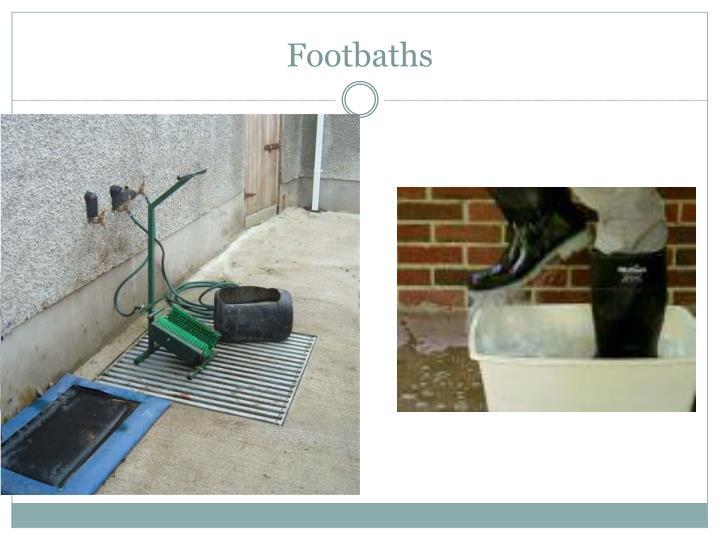Footbaths