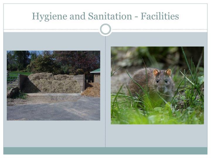 Hygiene and Sanitation - Facilities