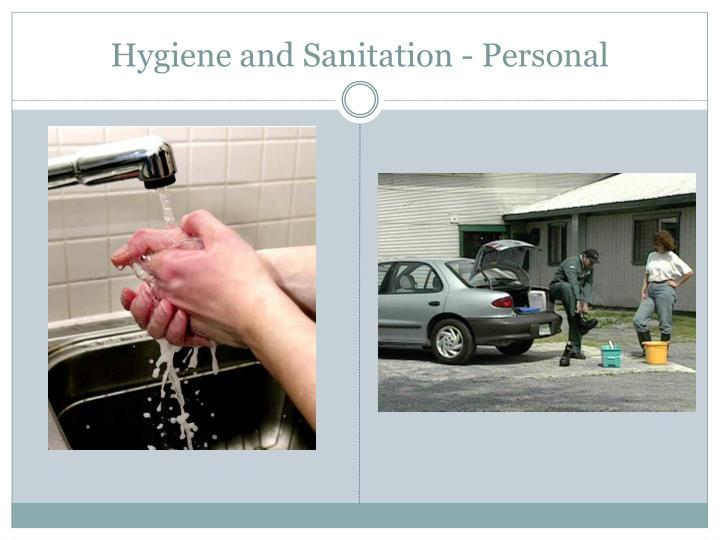 Hygiene and Sanitation - Personal