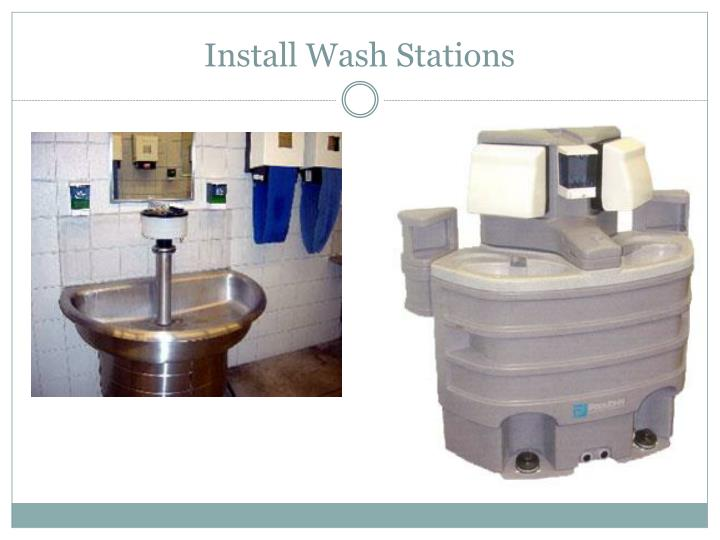 Install Wash Stations