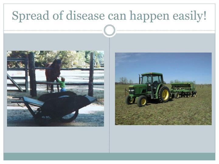 Spread of disease can happen easily!