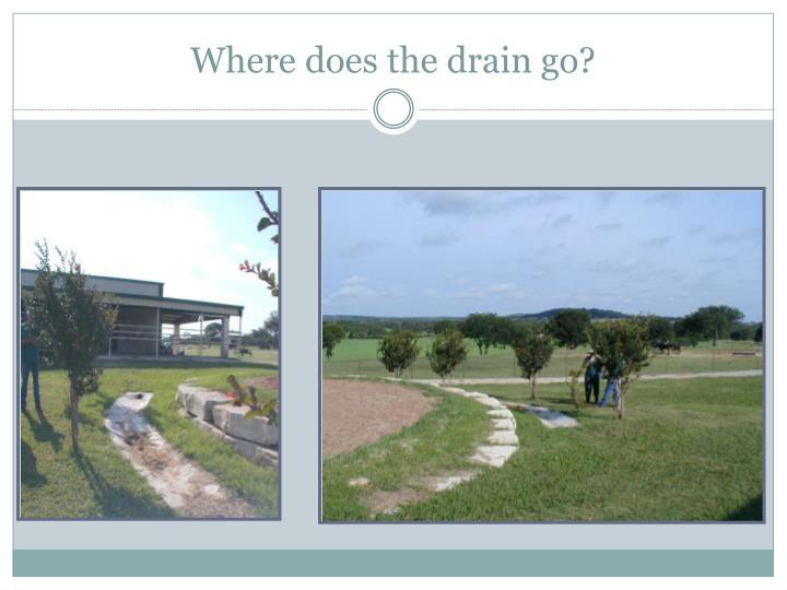 Where does the drain go?