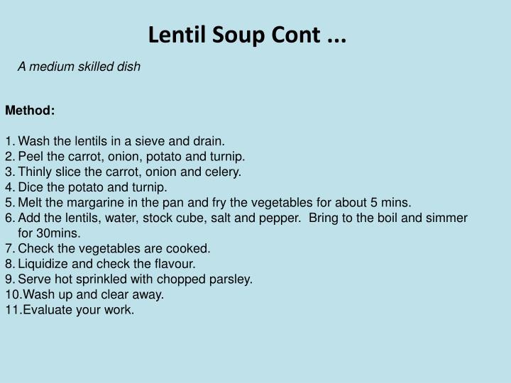 Lentil Soup Cont ...