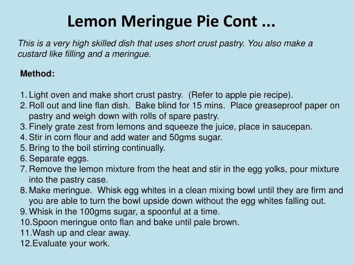 Lemon Meringue Pie Cont ...
