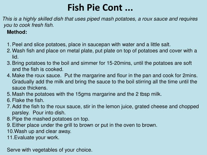 Fish Pie Cont ...