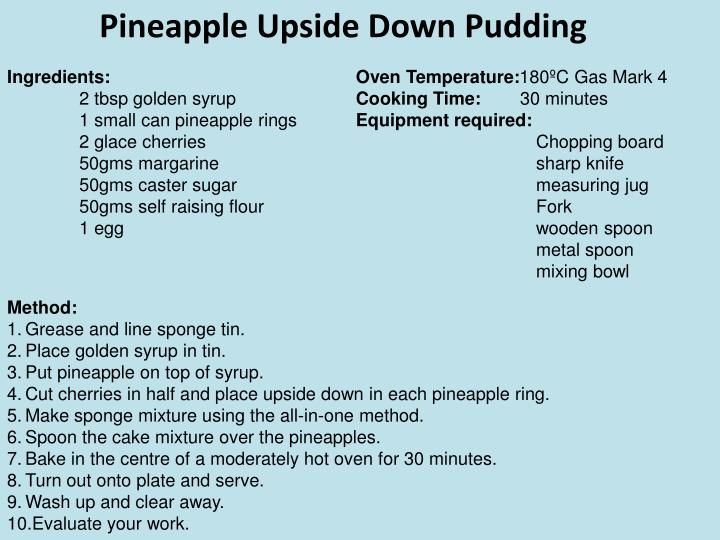 Pineapple Upside Down Pudding