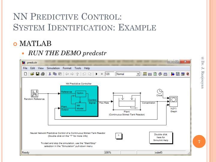 NN Predictive Control:
