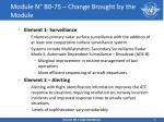 module n b0 75 change brought by the module