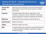 module n b0 75 intended performance operational improvement