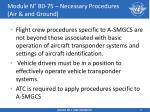 module n b0 75 necessary procedures air and ground