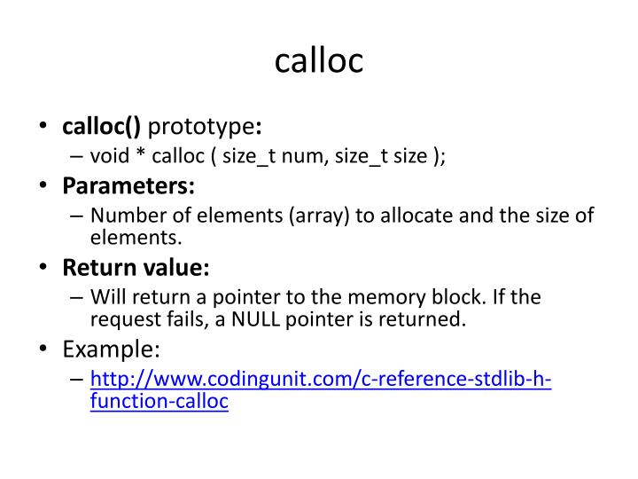 calloc