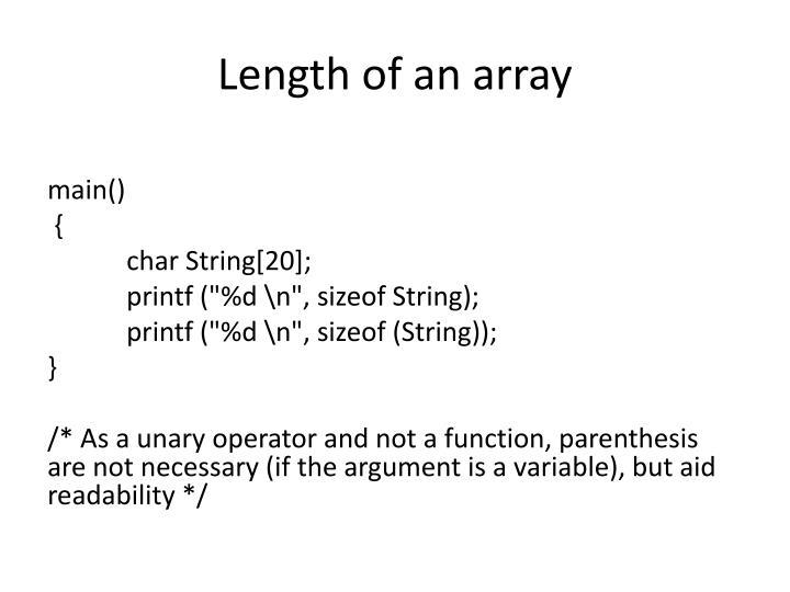 Length of