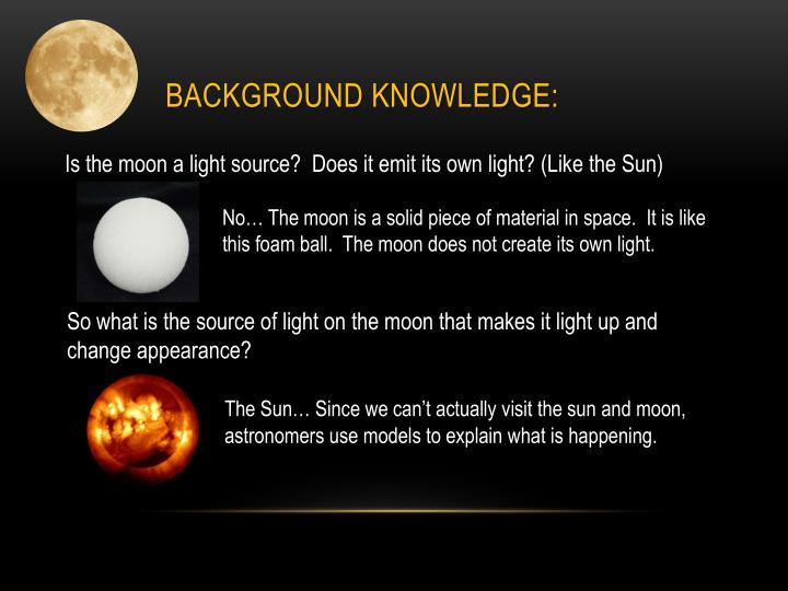 Background Knowledge: