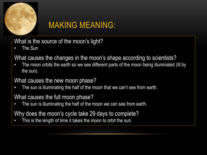 Making Meaning: