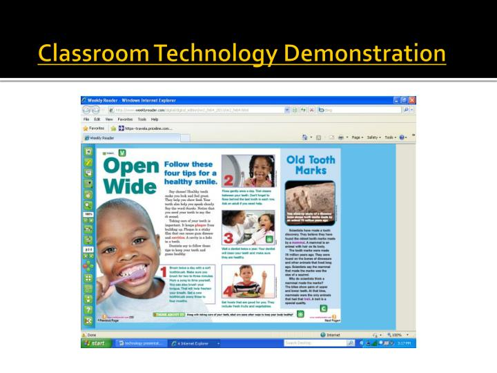 Classroom Technology Demonstration
