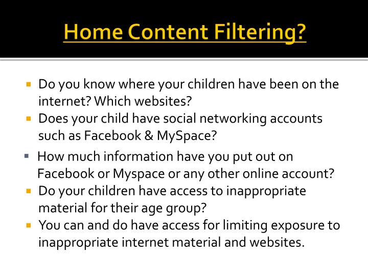 Home Content Filtering?