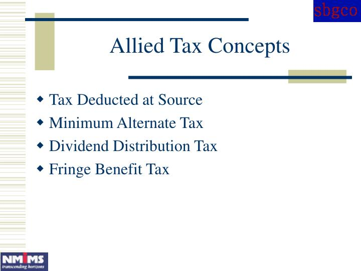 Allied Tax Concepts
