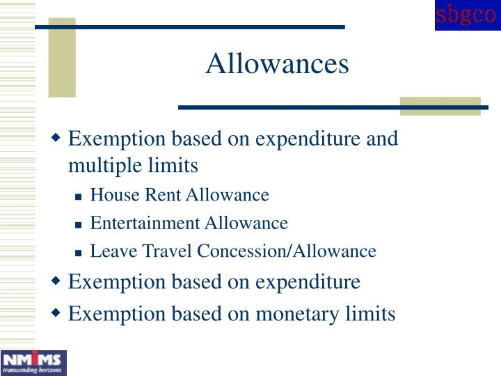 Allowances
