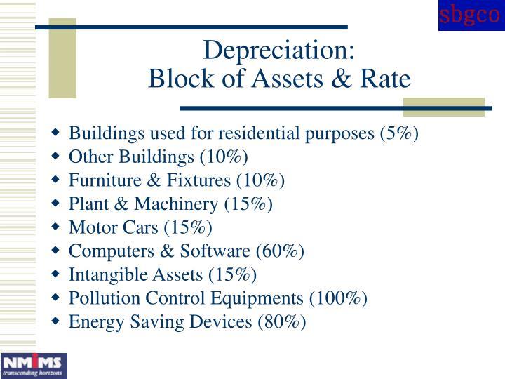 Depreciation: