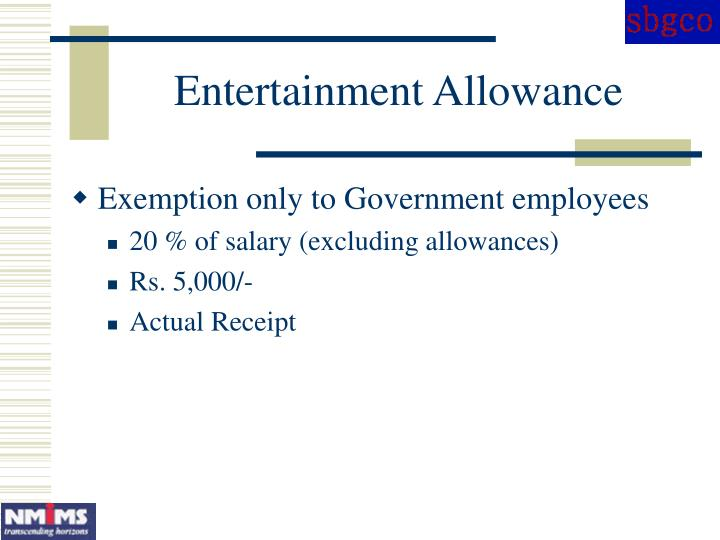 Entertainment Allowance