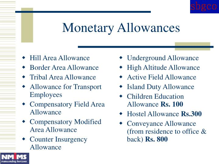 Hill Area Allowance