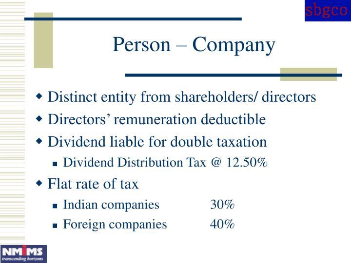 Person – Company