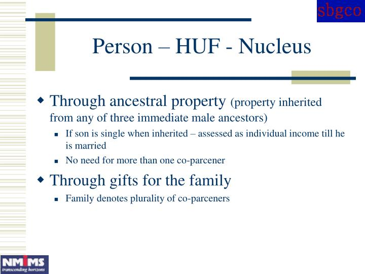 Person – HUF - Nucleus