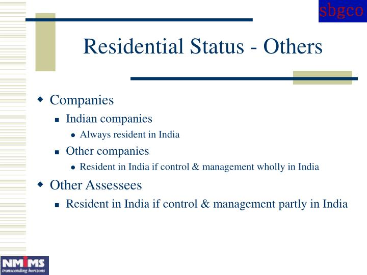 Residential Status - Others
