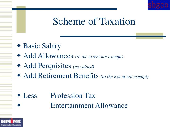 Scheme of Taxation