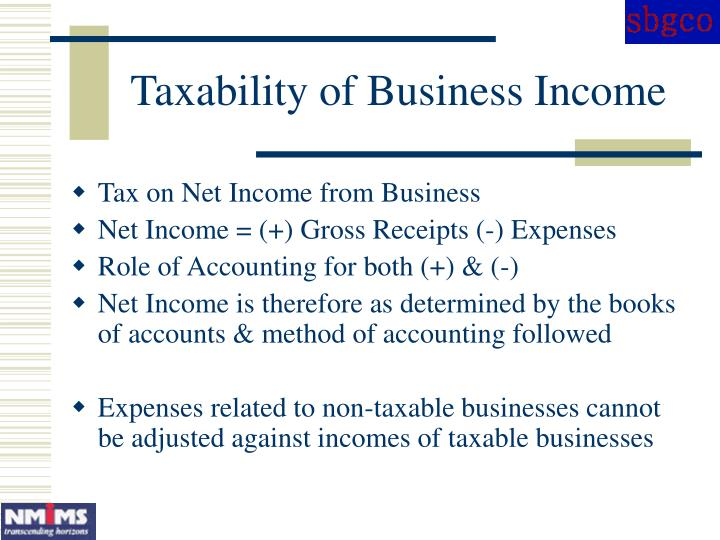 Taxability of Business Income