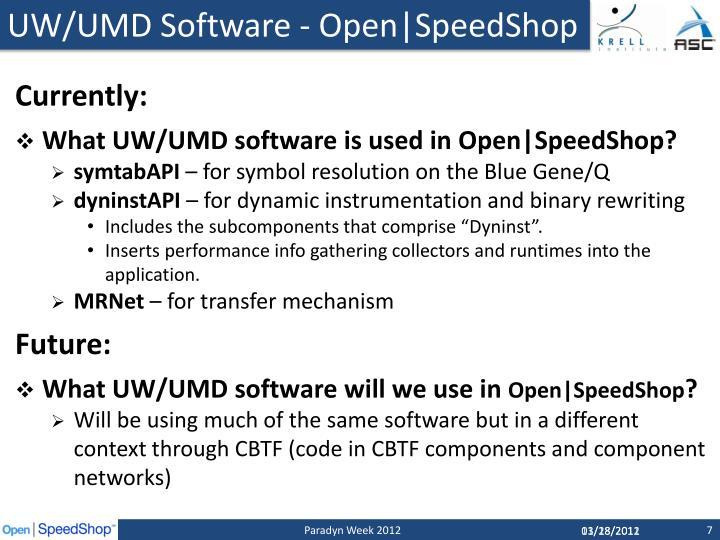 UW/UMD Software -